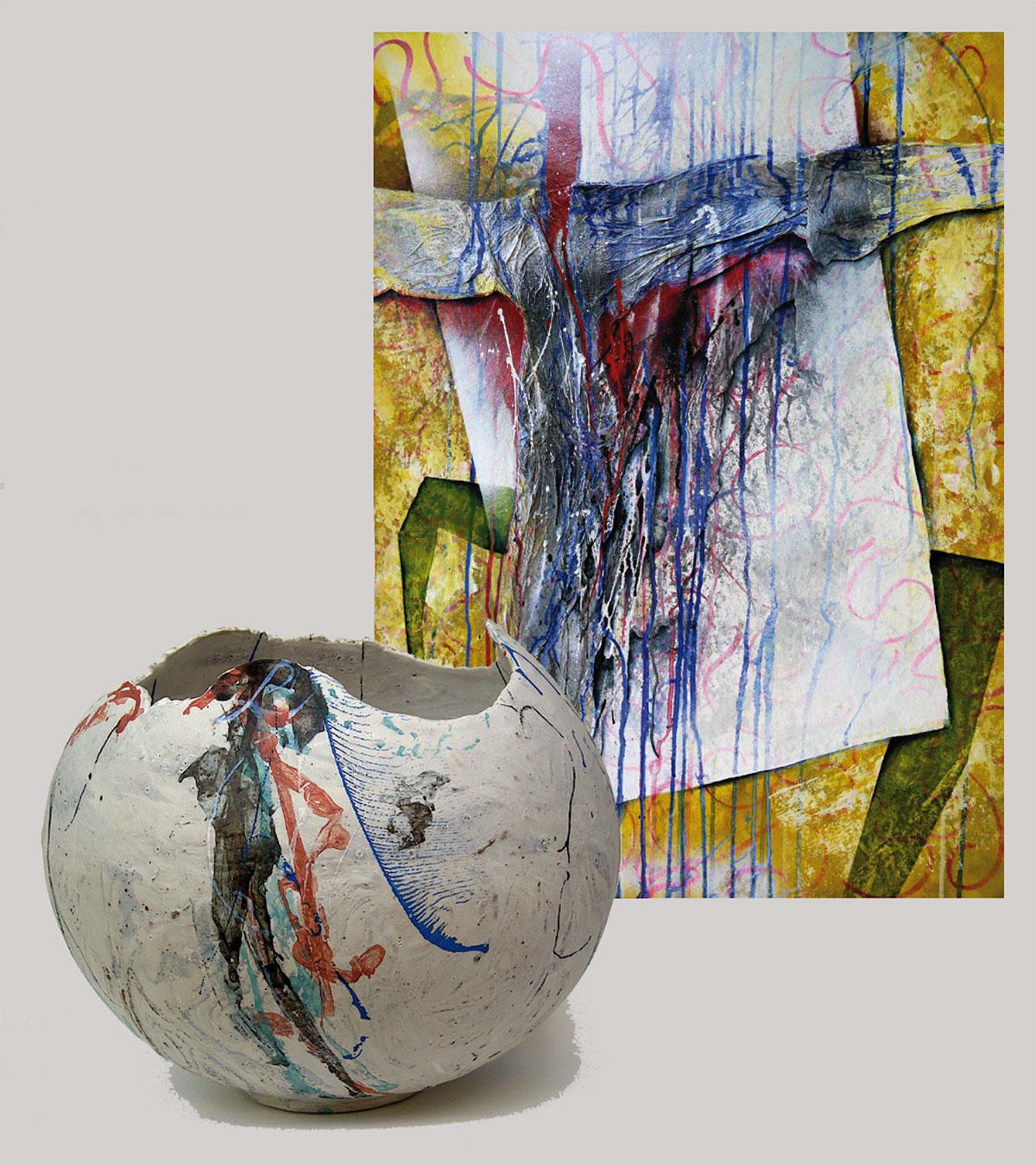 Hartwig Kolb, Malerei & Elisabeth Reusch-Heidenfelder, Keramik