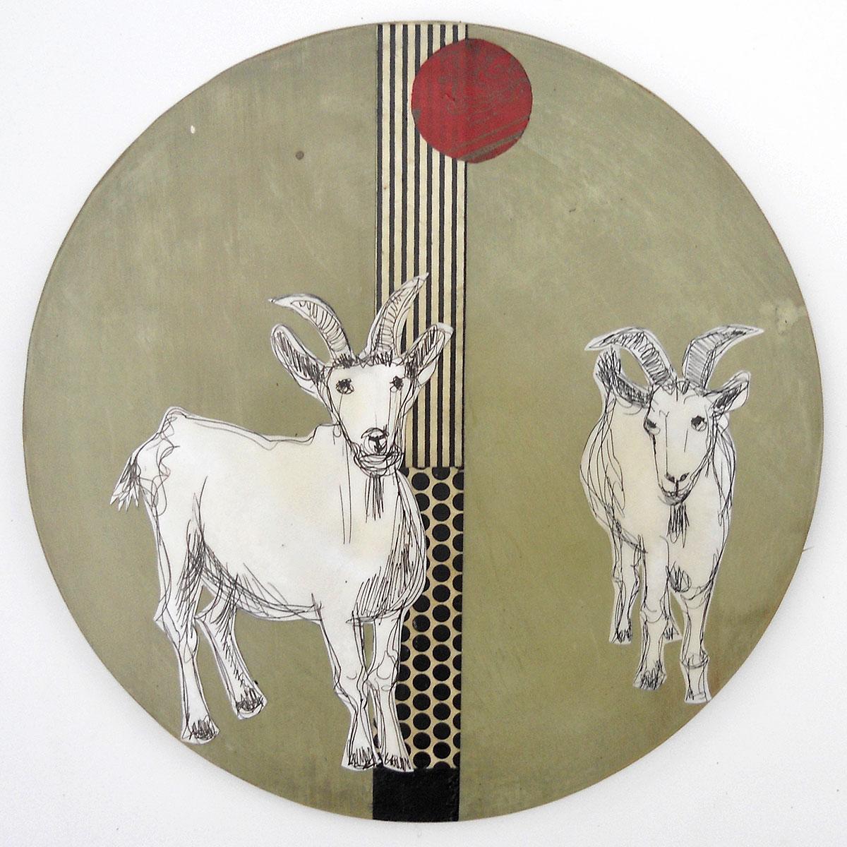 Ulrike Zimmermann: »Ziegencircles« – Collagen